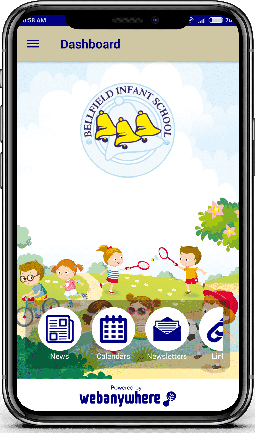 Bellied Infant school mobile app