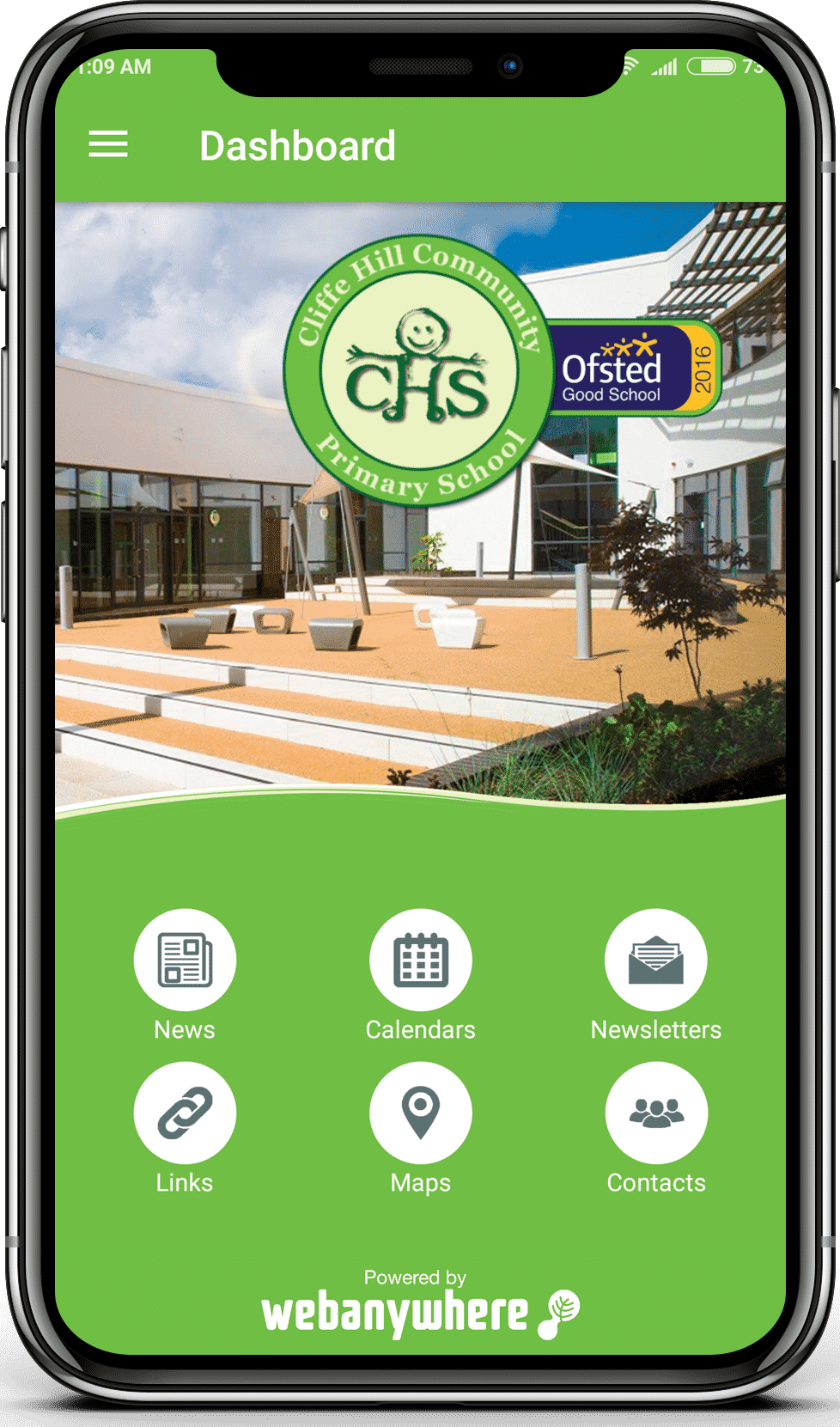 Cliffe Hill school mobile app