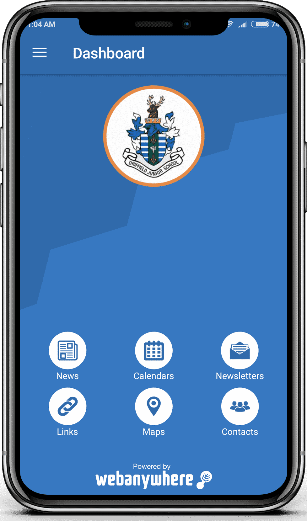 Driffield Junior school mobile app