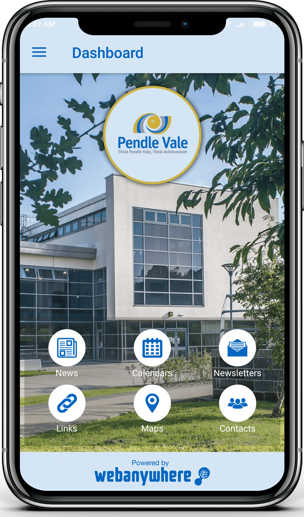 Pendle Vale school mobile app