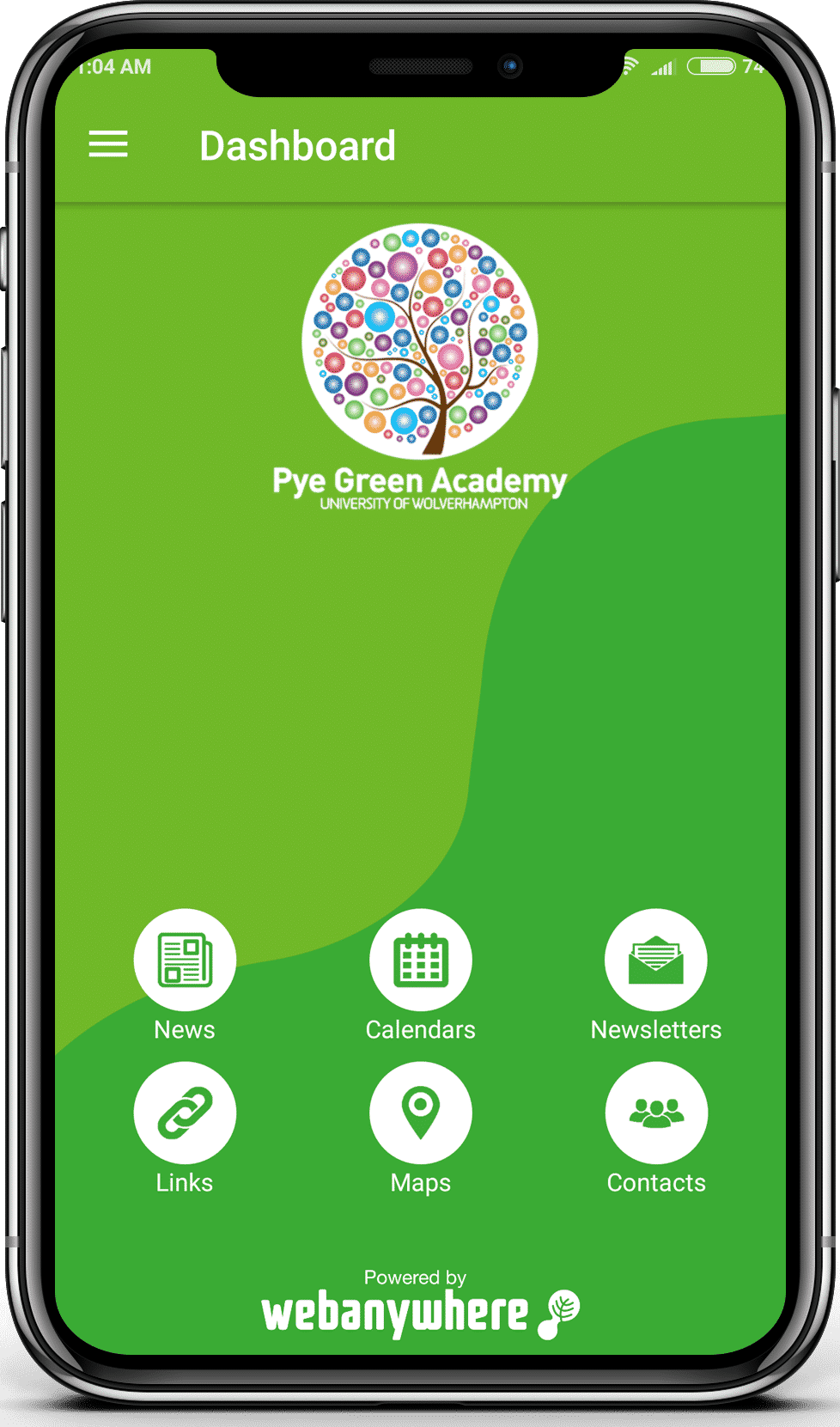 Pye Green School mobile app