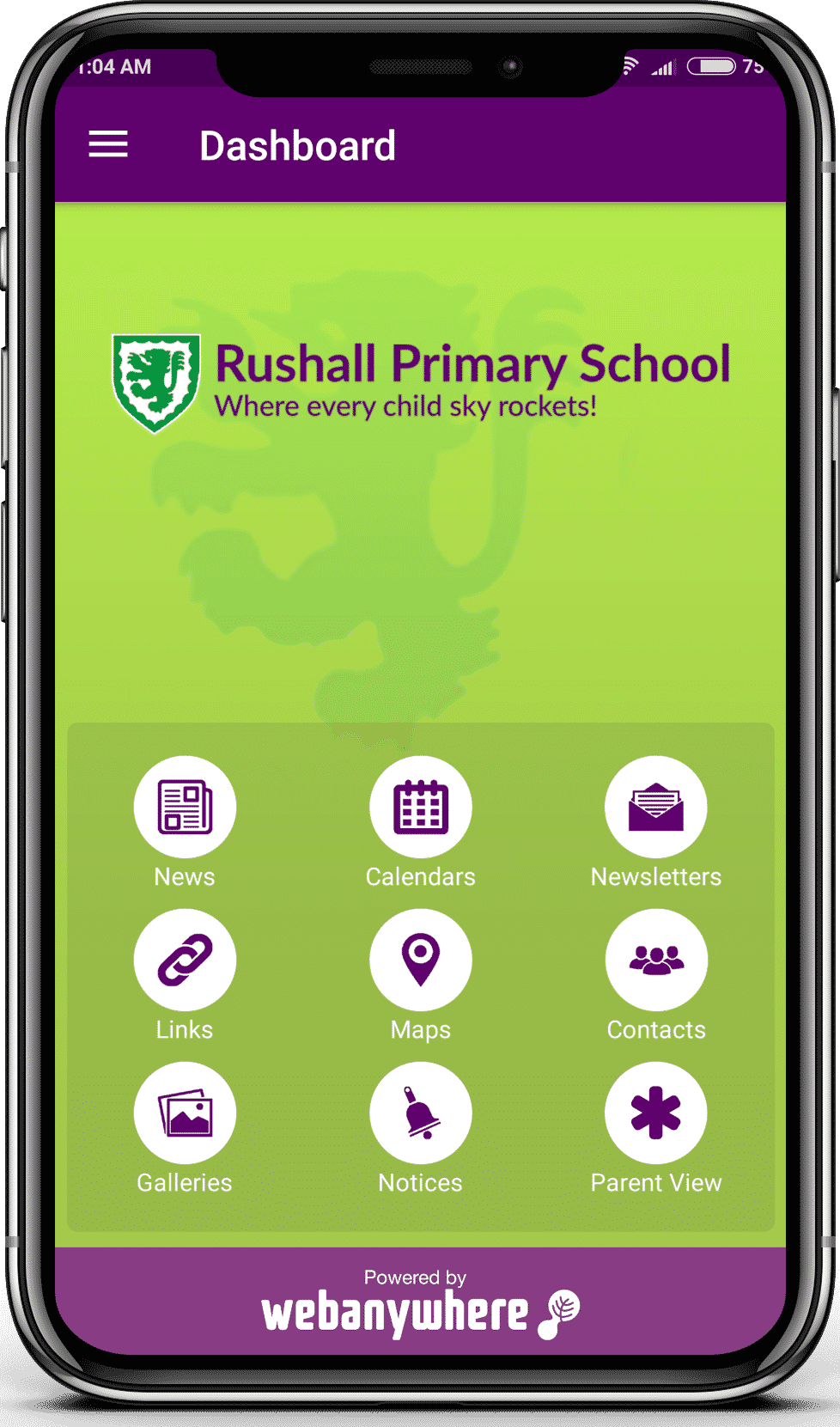 Rushall Jr mobile app
