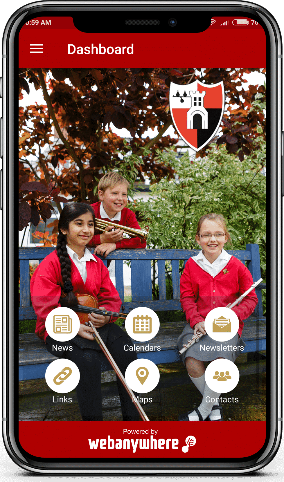 Stanley Road school mobile app