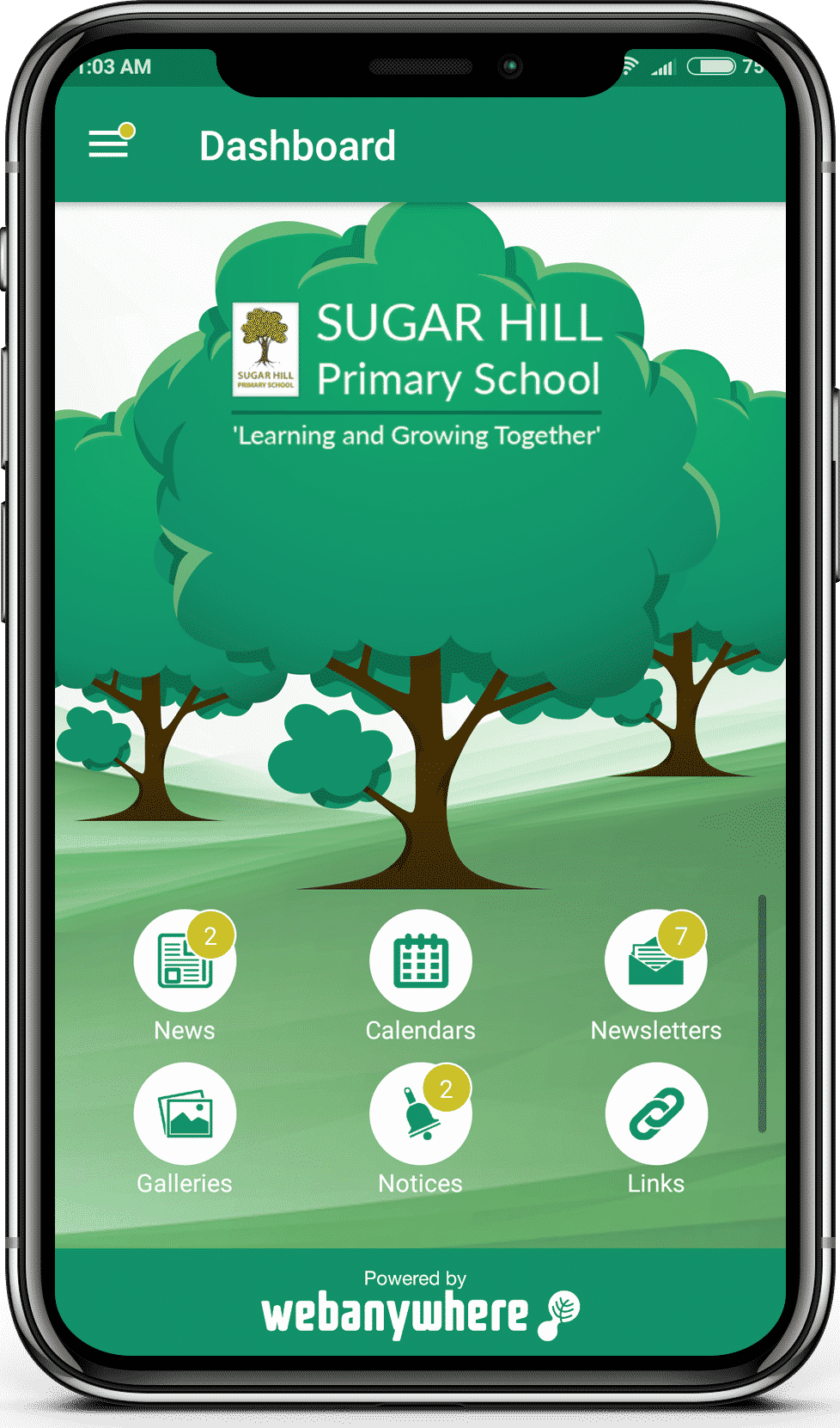 Sugar Hill school mobile app