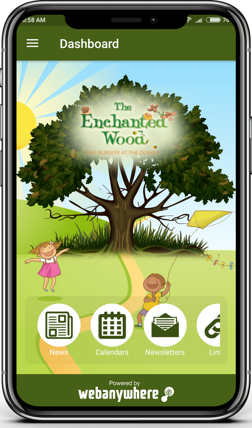 The Enchanted Wood mobile app