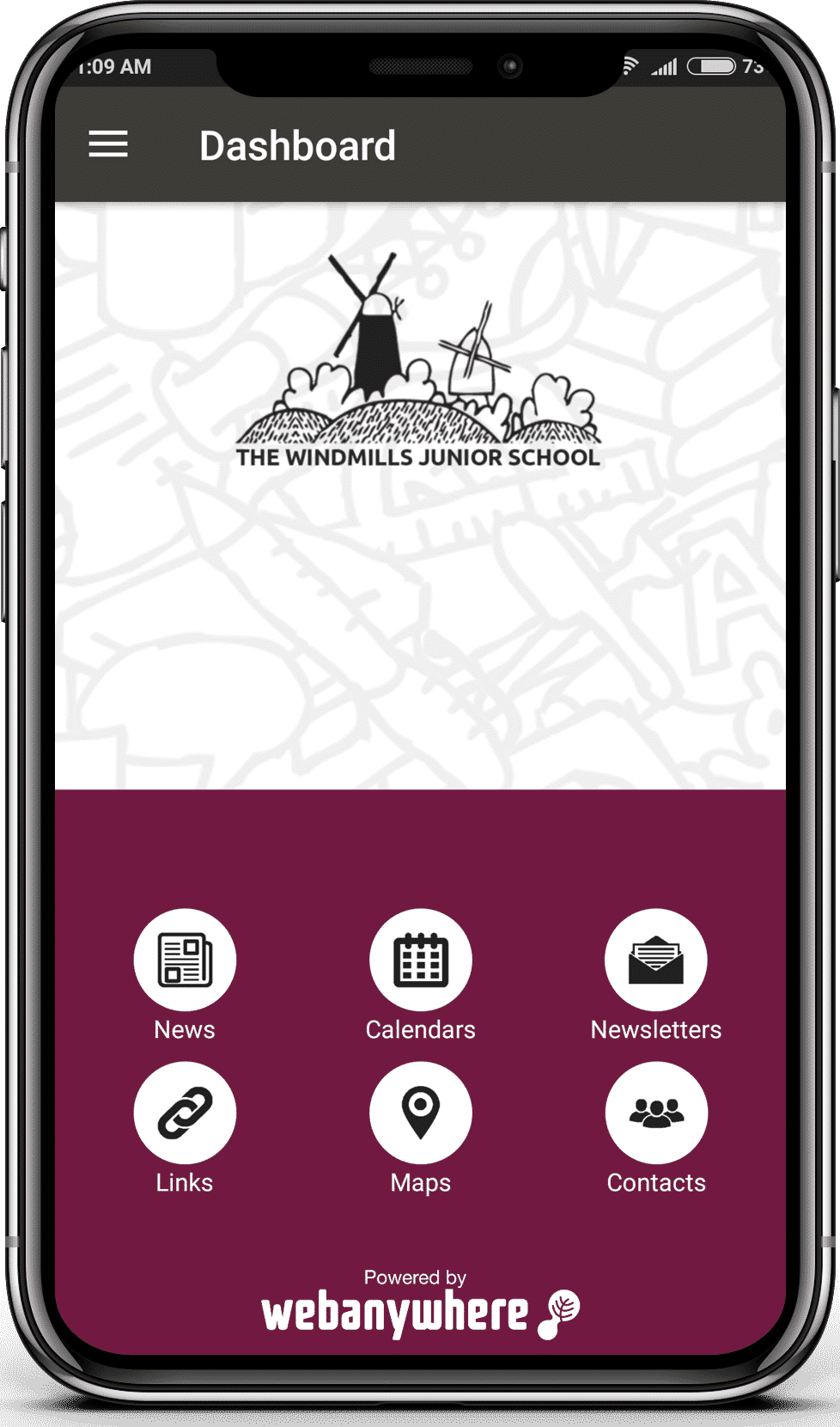 Windmills school mobile app