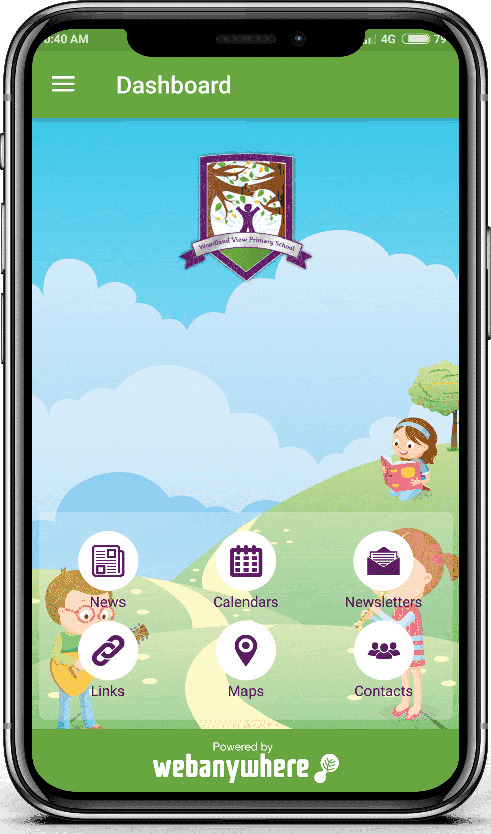Woodland View school mobile app